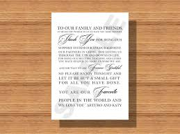 wedding gift thank you notes wedding day thank you note for wedding guests thank you note