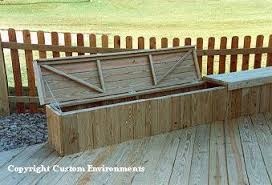 deck storage bench plans free build wood bench seat diy ideas
