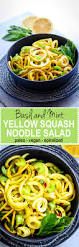 Noodle Salad Recipes Basil And Mint Yellow Squash Spiralized Salad Paleo Vegan