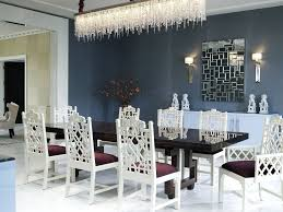 interior modern dining room lighting with sparkly silver sea
