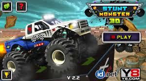 monster truck racing videos 3d stunt monster truck games v2 2 monster trucks games to play
