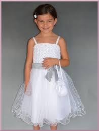 robe de cã rã monie pour mariage robe blanche et grise pour cortège demoiselle d honneur enfant pas