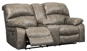 dunwell driftwood power reclining loveseat with console and