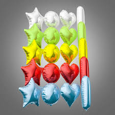 foil balloons 3d colorful foil balloons cgtrader
