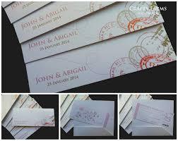 Boarding Pass Wedding Invitation Card Wedding Card Malaysia Crafty Farms Handmade Wedding Boarding