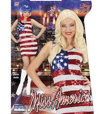 Uk Flag Dress Ladies Sequin Dress Miss Usa Costume Small Uk 8 To 10 For 70s