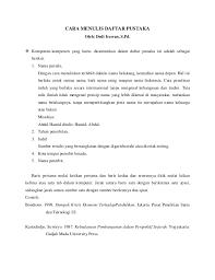 format penulisan makalah sederhana cara menulis kutipan dan daftar pustaka karya tulis ilmiah