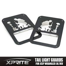 jeep wrangler sahara logo pair black rear taillight cover guard fallen soldier logo for 07