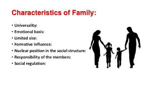 the family characteristics and types