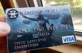 Credit Card Meme - game of thrones credit card game of thrones memes game of
