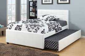 King Size Bed With Trundle Bedroom White Faux Leather Trundle Bed With Headboard Combined