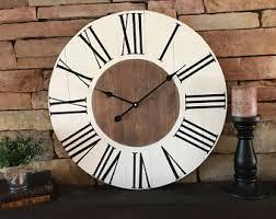 Giant Wall Clock Oversized Wall Clock Etsy