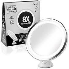 8x lighted vanity mirror fancii 6 inch lighted makeup mirror with 8x magnification true to