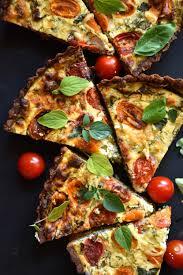 dill basil zucchini flower and tomato tart u2014 george eats