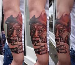 mustache old man tattoo by piranha tattoo supplies best tattoo