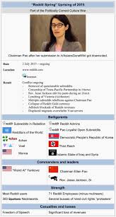 Meme Wikipedia - the reddit rebellion summarized on wikipedia like other wars and