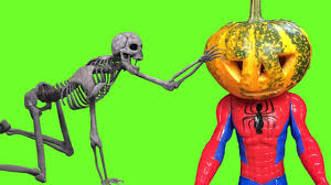 Halloween Skeleton Scary Halloween Skeleton Cartoon W Pumpkinhead Spiderman Frozen