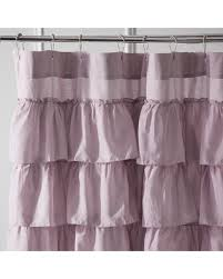 Shower Curtain Sale Incredible Deal On Ruffled Lilac Shower Curtain