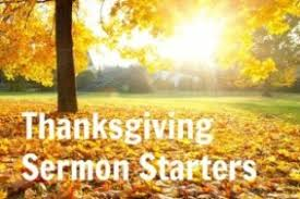 ministry matters thanksgiving sermon starters