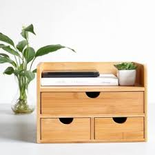 Desk Organizer Drawers 100 Bamboo Desk Organizer With 3 Drawers