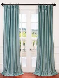 Teal Taffeta Curtains Half Price Drapes Ptch Bo5 84 Blackout Faux Silk Taffeta Curtain
