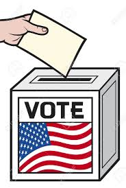 The Flag Of Usa Illustration Of A Ballot Box With The Flag Of The United States