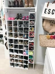 Container Store Shoe Cabinet Shoe Storage Custom Built In Look For Less Than 100 House Of