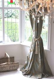 Teal Window Curtains Duck Egg Teal Gold Damask Curtains Bay Window Lined 81