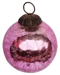 ornament hand blown christmas tree decoration ball u2013 shiny pink