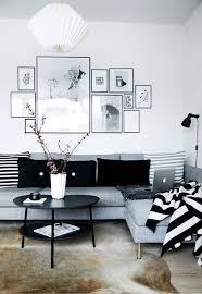 simple black and white apartment design attractor living rooms