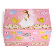 childrens musical jewellery box in a butterflies and fairy design