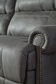 gray reclining sofa buy austere gray 2 seat reclining sofa by signature design from
