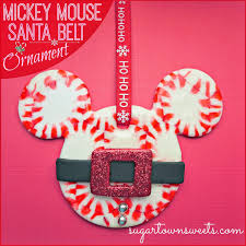 sugartown mickey mouse santa belt ornaments