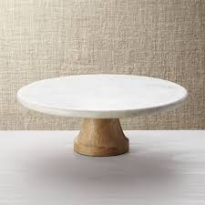 marble cake stand wood marble pedestal in specialty serveware reviews crate and
