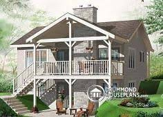 ski chalet house plans w3955 affordable simple scandinavian style lakefront home plan