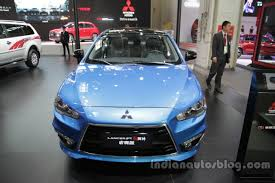 mitsubishi lancer ex 2017 2016 mitsubishi lancer ex front at auto china 2016 indian autos blog