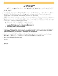 marketing cover letter marketing cover letter exles templates livecareer