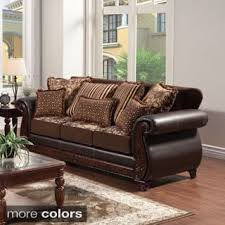 Leather And Tapestry Sofa Faux Leather Sofas Couches U0026 Loveseats Shop The Best Deals For