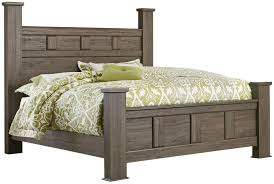 standard furniture hayward queen poster bed with raised panels