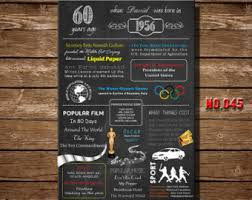 50th Birthday Centerpieces For Men by 50th Birthday Poster 1966 Chalkboard Poster 50th Birthday