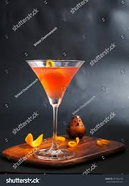 cocktail photography red alcohol cosmopolitan cocktail decorated citrus stock photo