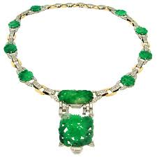 jade gold necklace images J e caldwell and co carved jade diamond platinum gold necklace jpg