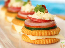 indian canapes ideas monaco biscuit canapes how to monaco biscuit toppings