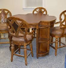 hooker game table with leather top and four chairs ebth hooker game table with leather top and four chairs