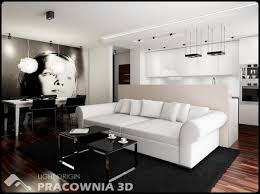 modern and cute small space apartment design by pracownia 3d