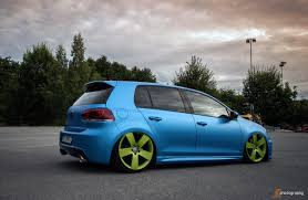 orange volkswagen gti blue vw golf mk6 with green 5 star rims vw golf tuning