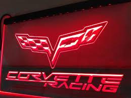 chevrolet corvette racing led sign u2013 vintagily