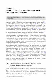 special problems of algebraic regression and stochastic estimation