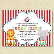 circus baby shower invitations iidaemilia com