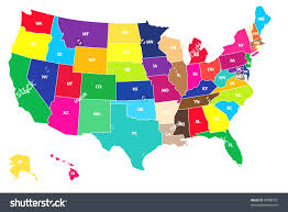 united states map colored regions united states map colored
